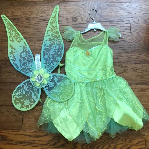 NWT Disney Store Tinker Bell Halloween Costume Wings Headband Green 100/% Cotton